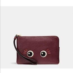 COACH Flirty Eyes Wristlet Wallet Burgundy
